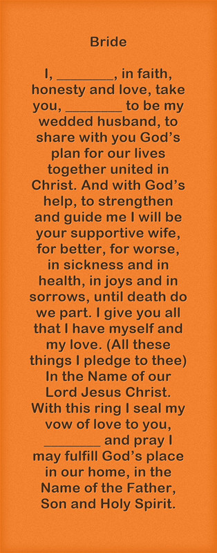 Are Wedding Vows In The Bible  Christian Wedding Vows Examples for Groom and Bride