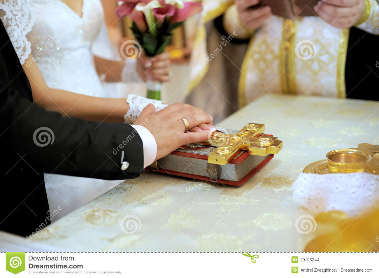 Are Wedding Vows In The Bible  Wedding Vow With Bible Stock Image
