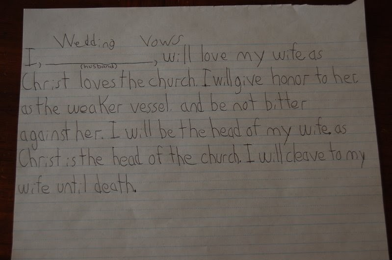 Are Wedding Vows In The Bible  HsKubes Haven at Home Wedding Vows from the Bible