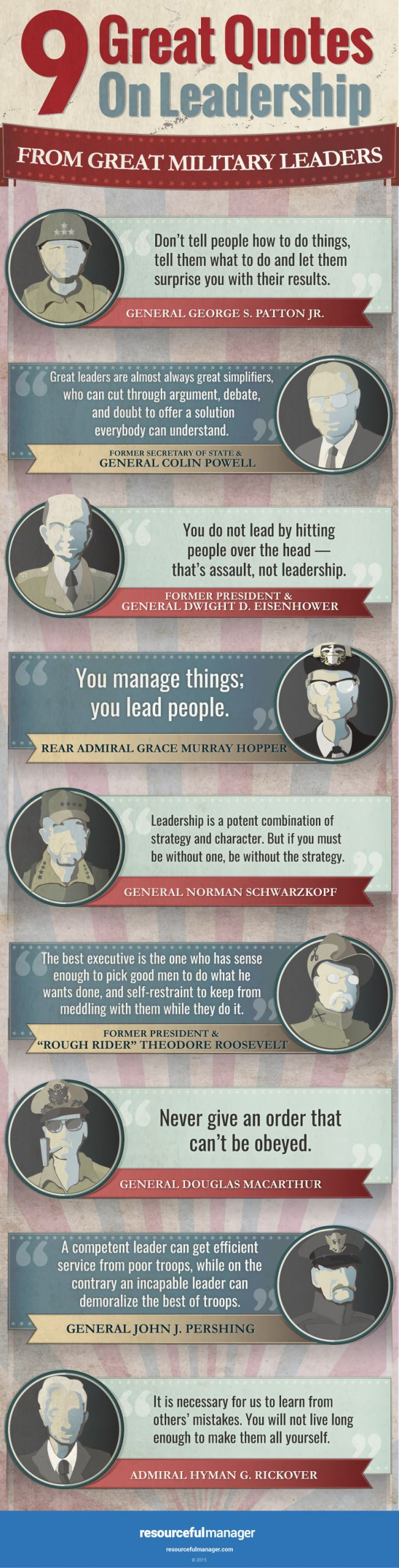 Army Leadership Quotes  9 Leadership Quotes From Great Military Leaders [Infographic]