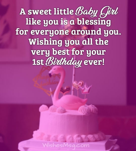 Baby Birthday Wishes  First Birthday Wishes and Messages For Baby WishesMsg