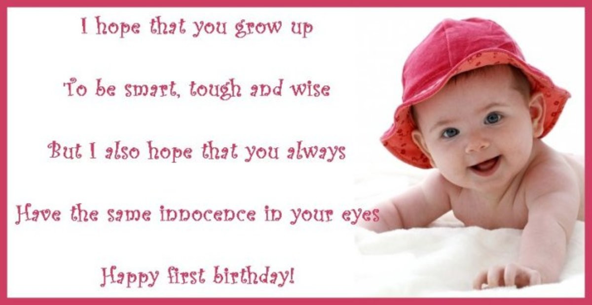 Baby Birthday Wishes  First Birthday Wishes Poems and Messages for a Birthday