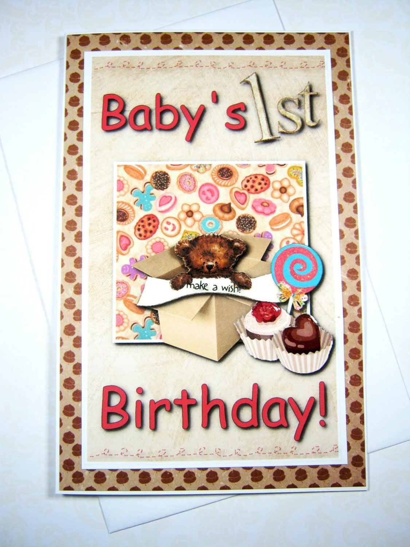 Baby Birthday Wishes  Baby s 1st birthday Happy Birthday Card Birthday Wishes