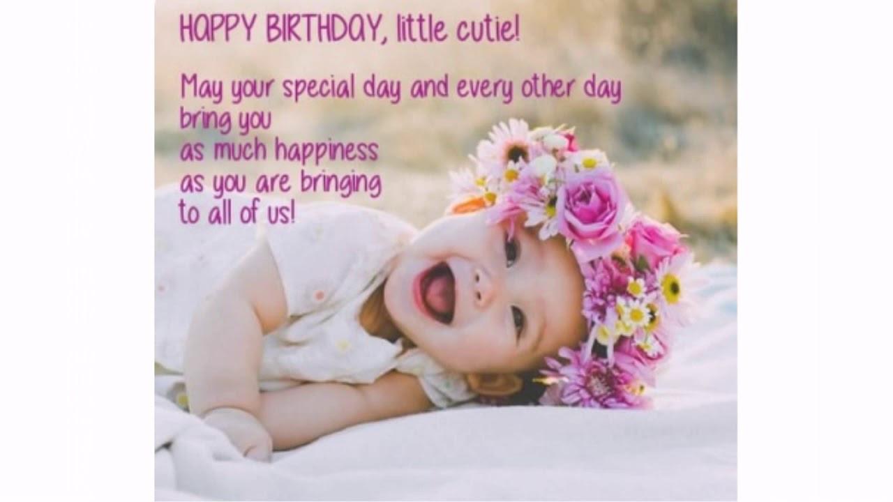 Baby Birthday Wishes  Best Happy Birthday wishes for Baby Girl