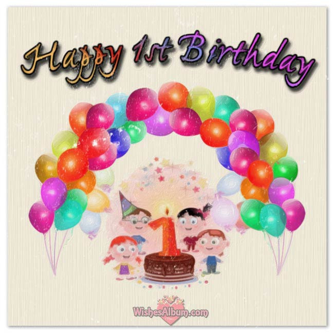Baby Birthday Wishes  Happy 1st Birthday Wishes For Baby Girls and Boys