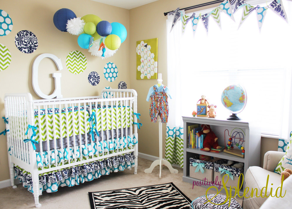Baby Boy Room Decorations  Baby Boy Nursery Tour Positively Splendid Crafts