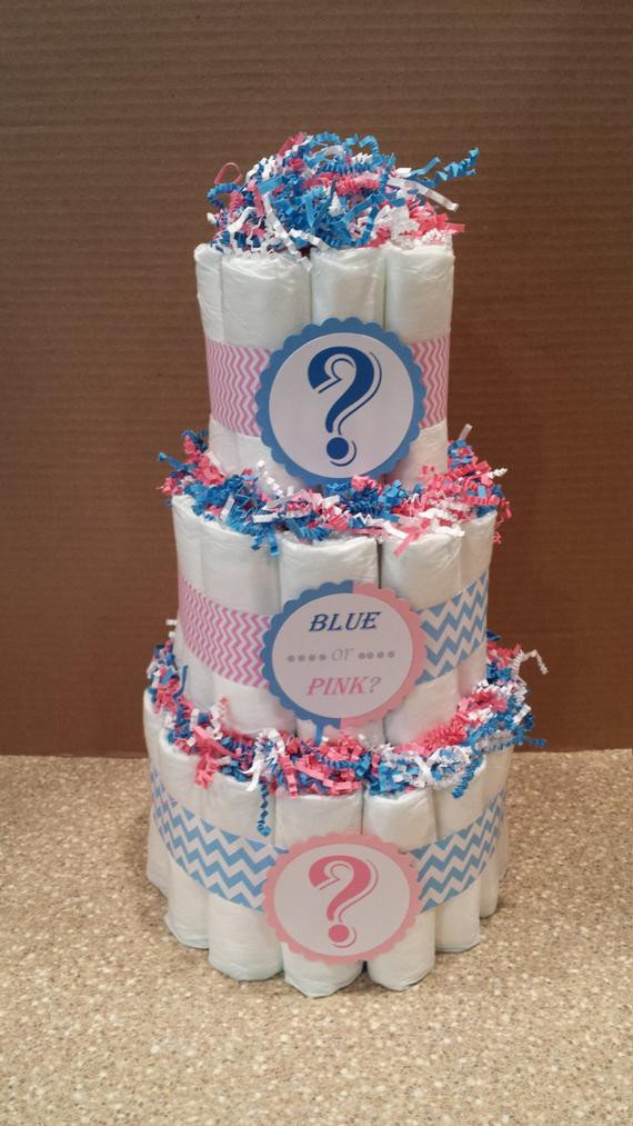 Baby Gender Reveal Gift Ideas  Gender Reveal Diaper Cake Baby Shower by GiftedOccakesions