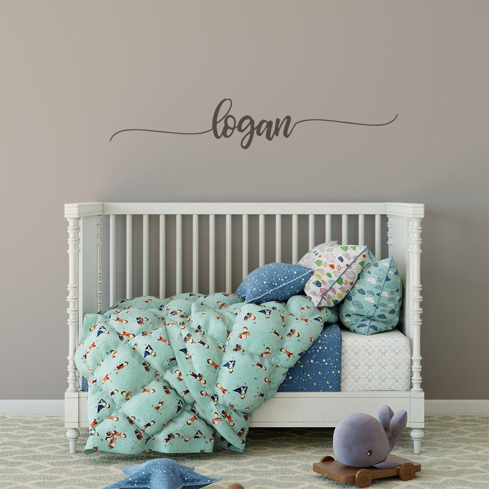 Baby Name Wall Decor  Baby Name Wall Decal Girl Boy Nursery Decor – MotoMoms Decor