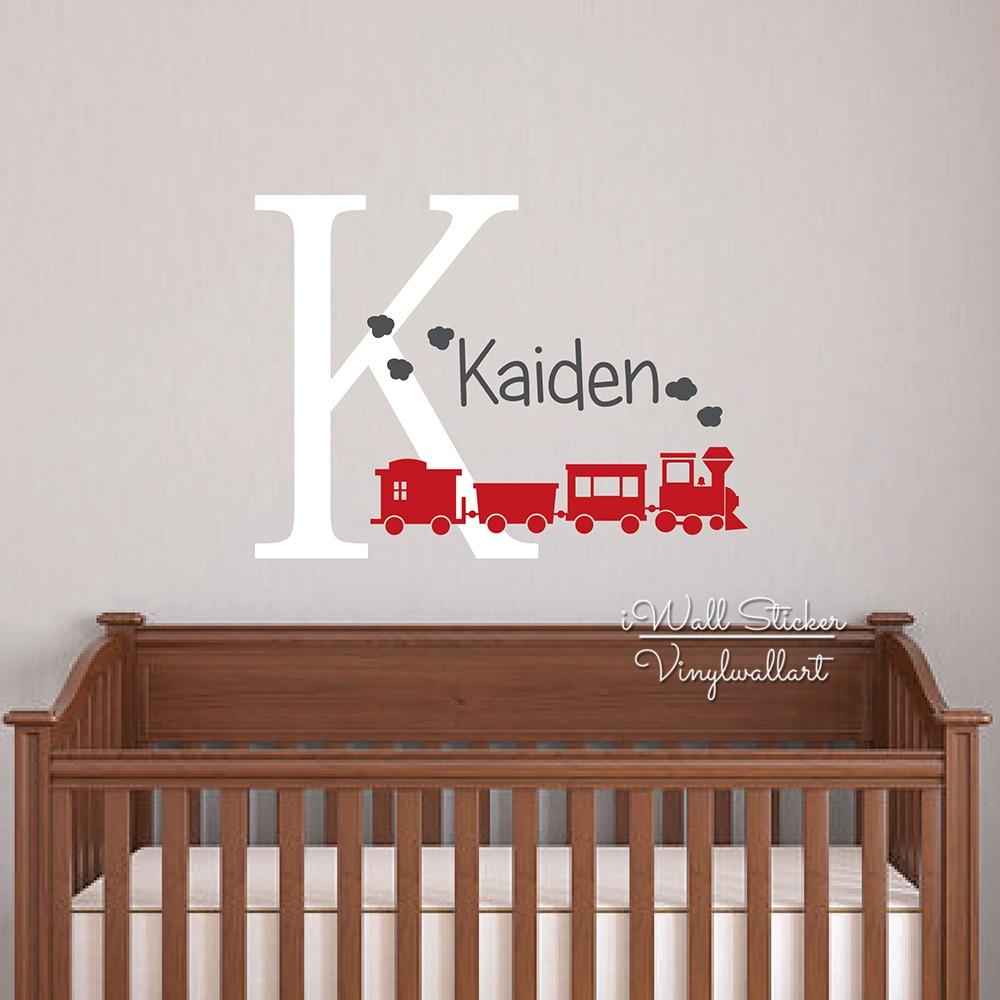 Baby Name Wall Decor  Aliexpress Buy Baby Nursery Name Wall Sticker