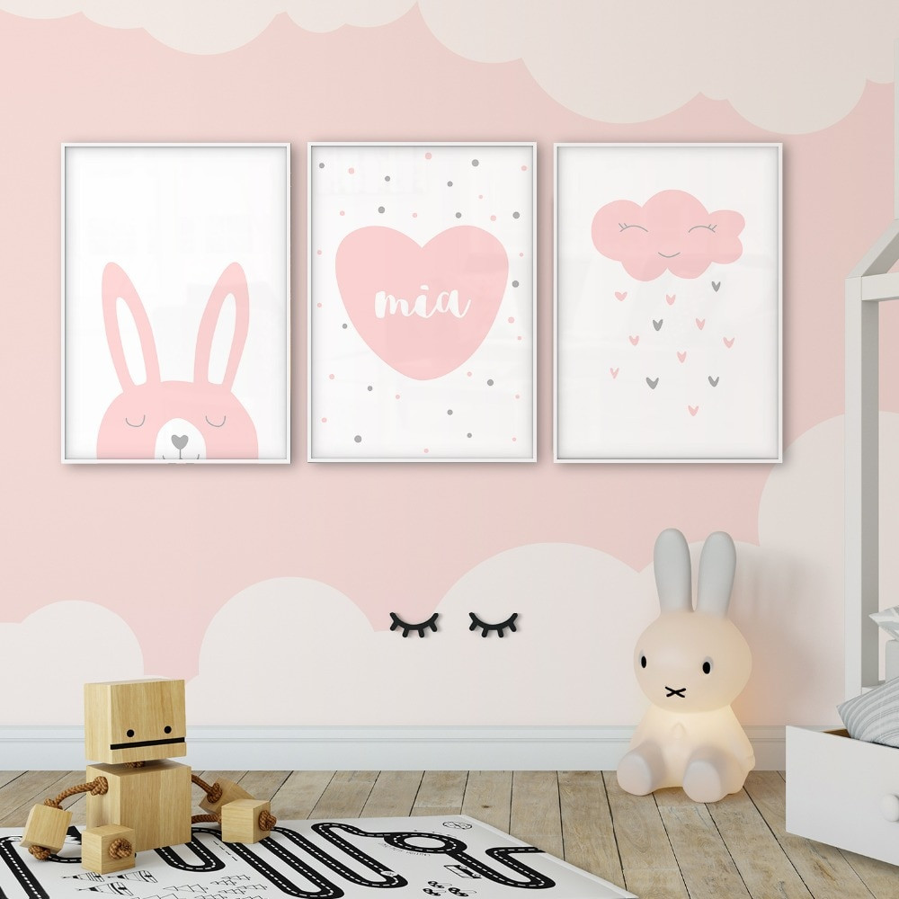 Baby Name Wall Decor  Customized Baby Child Name Poster Wall Art Canvas Print