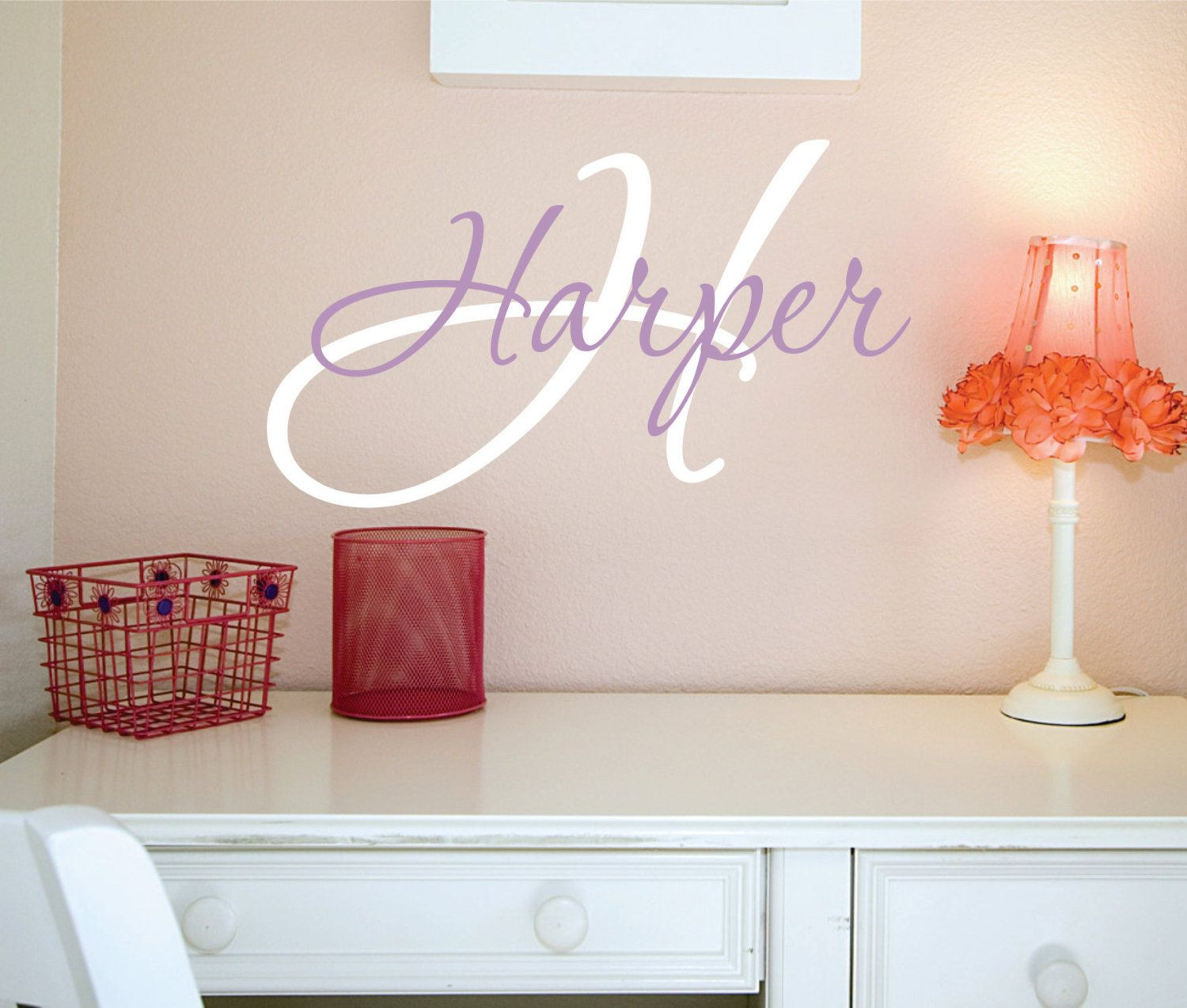 Baby Name Wall Decor  Wall Decals Nursery Name Wall Decal Girls Name Vinyl