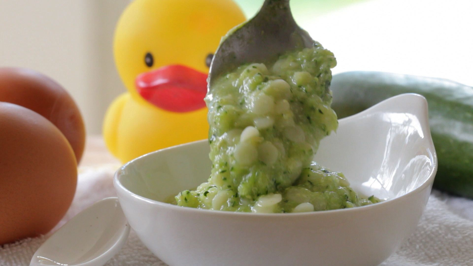 Baby Pastina Recipes  First egg yolk to your baby pastina with zucchini