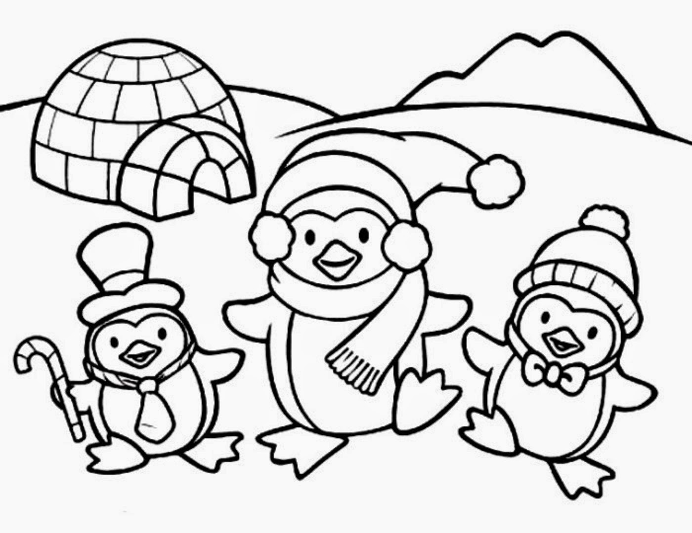 Baby Penguin Coloring Page  colours drawing wallpaper Cute Baby Penguin Colour