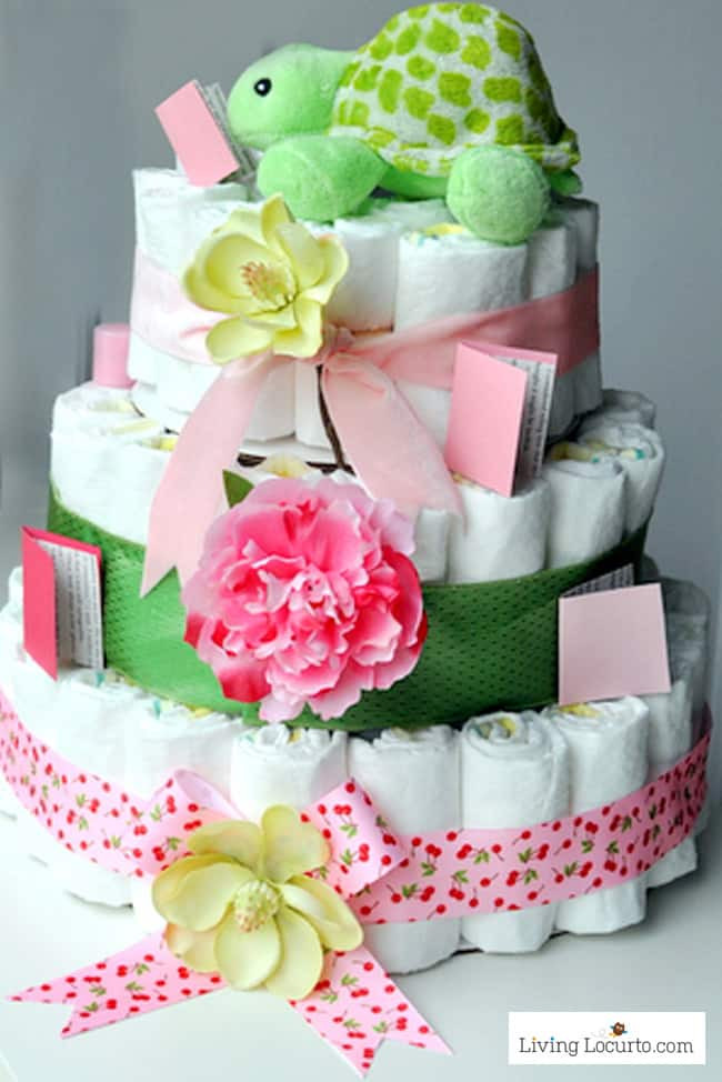 Baby Shower Craft Gift Ideas  How to Make a Diaper Cake