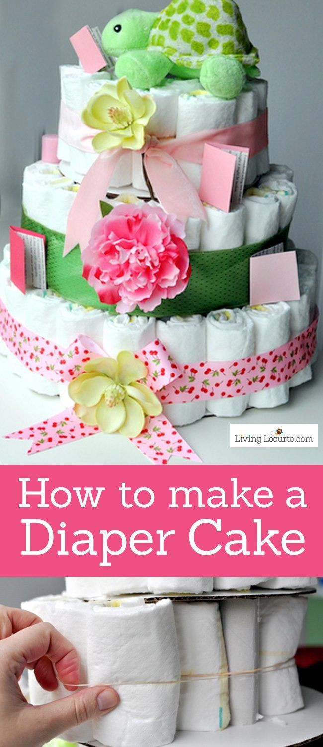 Baby Shower Craft Gift Ideas  How to Make a Diaper Cake Recipe