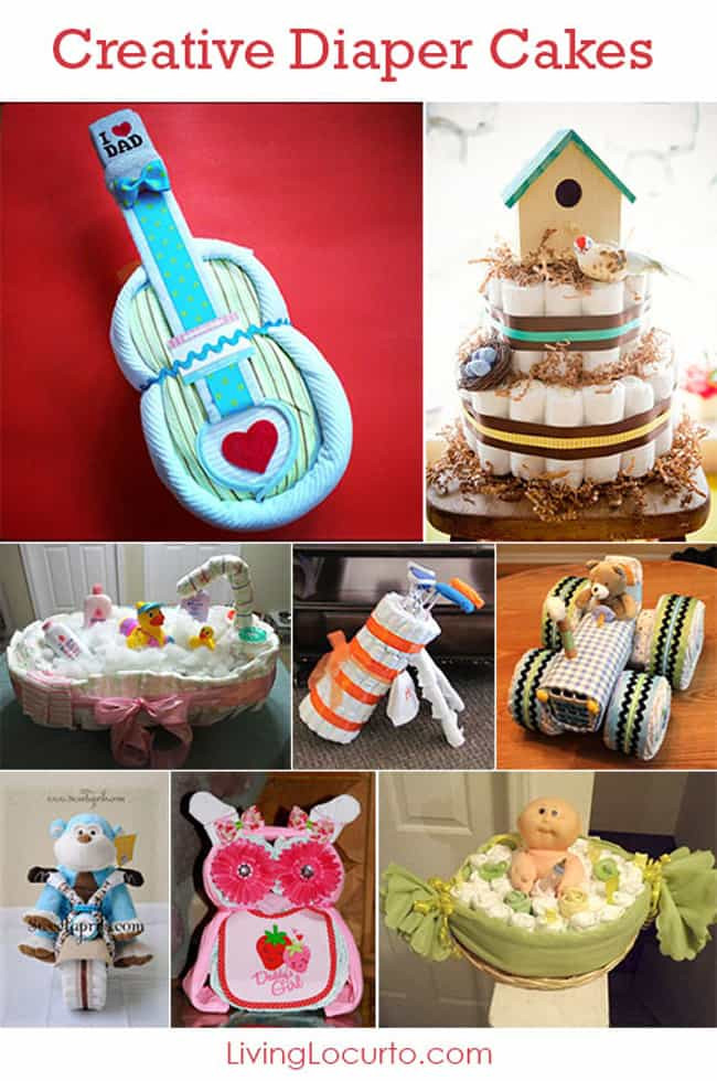 Baby Shower Craft Gift Ideas  15 Creative Diaper Cakes