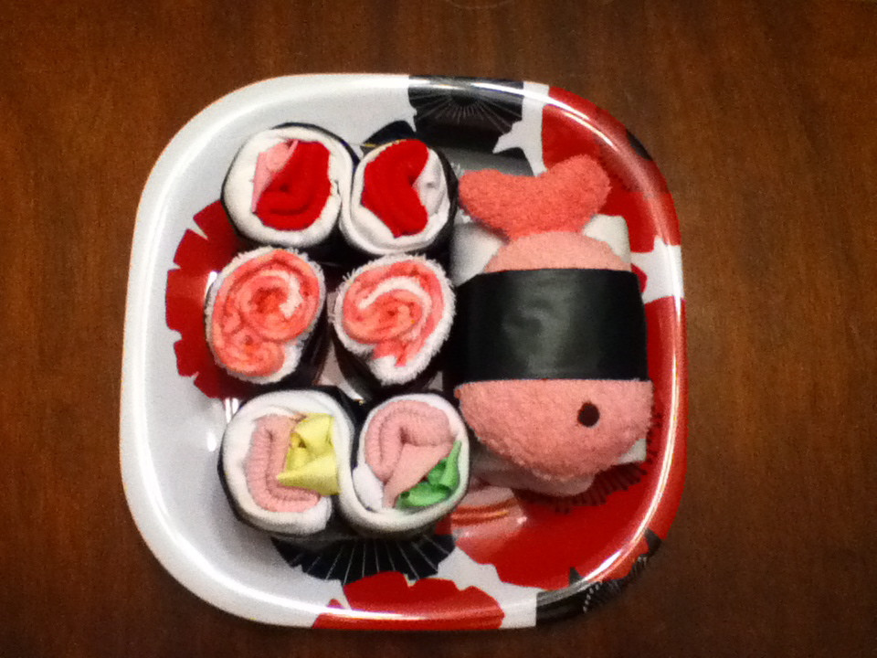 Baby Shower Craft Gift Ideas  Make a Sushi Baby Shower Gift Dollar Store Crafts