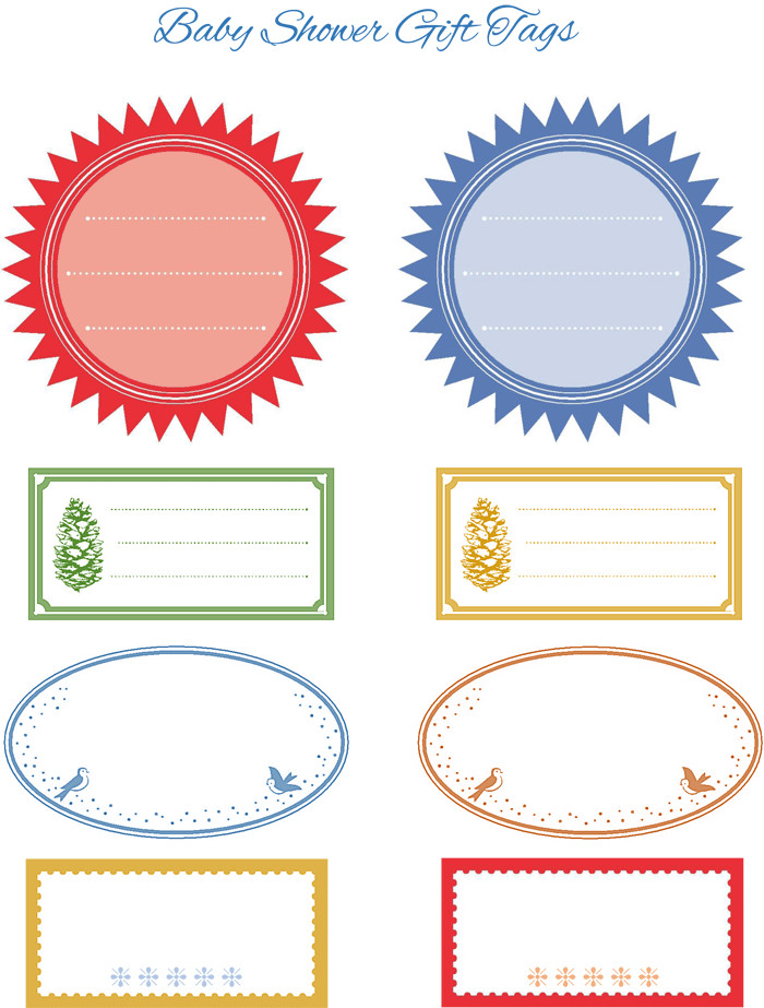 Baby Shower Gift Tag Template  5 Gift Tag Templates to Create a Personalized Gift Tag