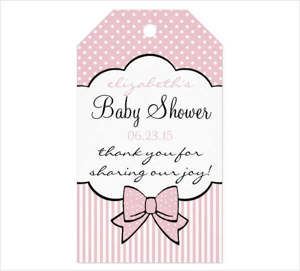 Baby Shower Gift Tag Template  9 Thank You Gift Tags PSD Vector EPS