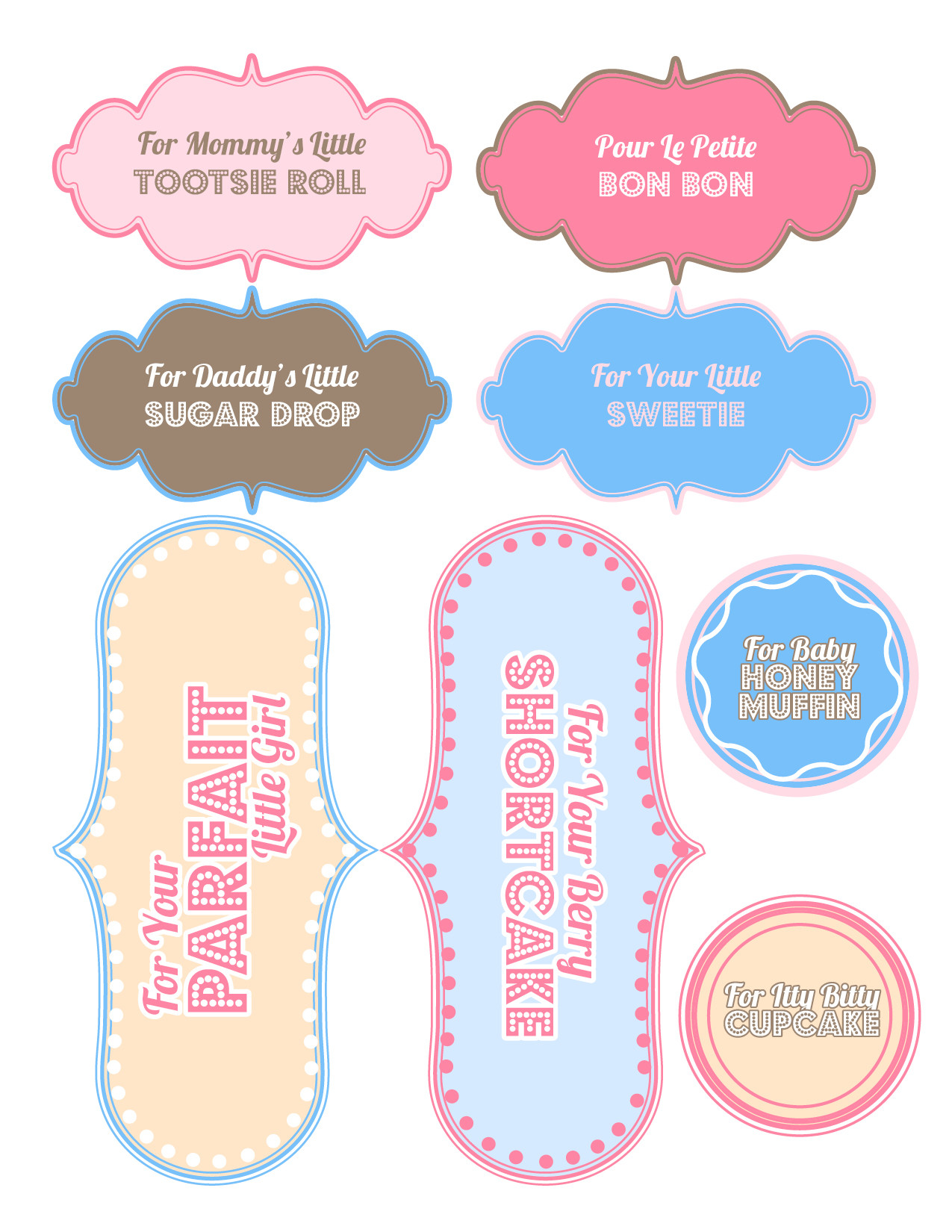 Baby Shower Gift Tag Template  7 Best of Printable Labels Templates Baby Shower