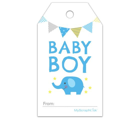 Baby Shower Gift Tag Template  Baby shower t tags printable free Imagui