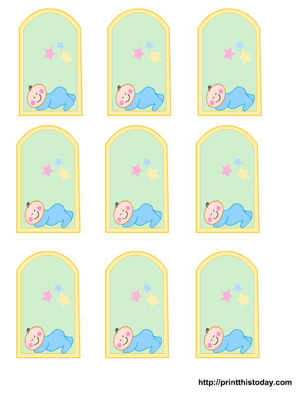 Baby Shower Gift Tag Template  Free Printable baby girl boy Baby Shower Favor Tags