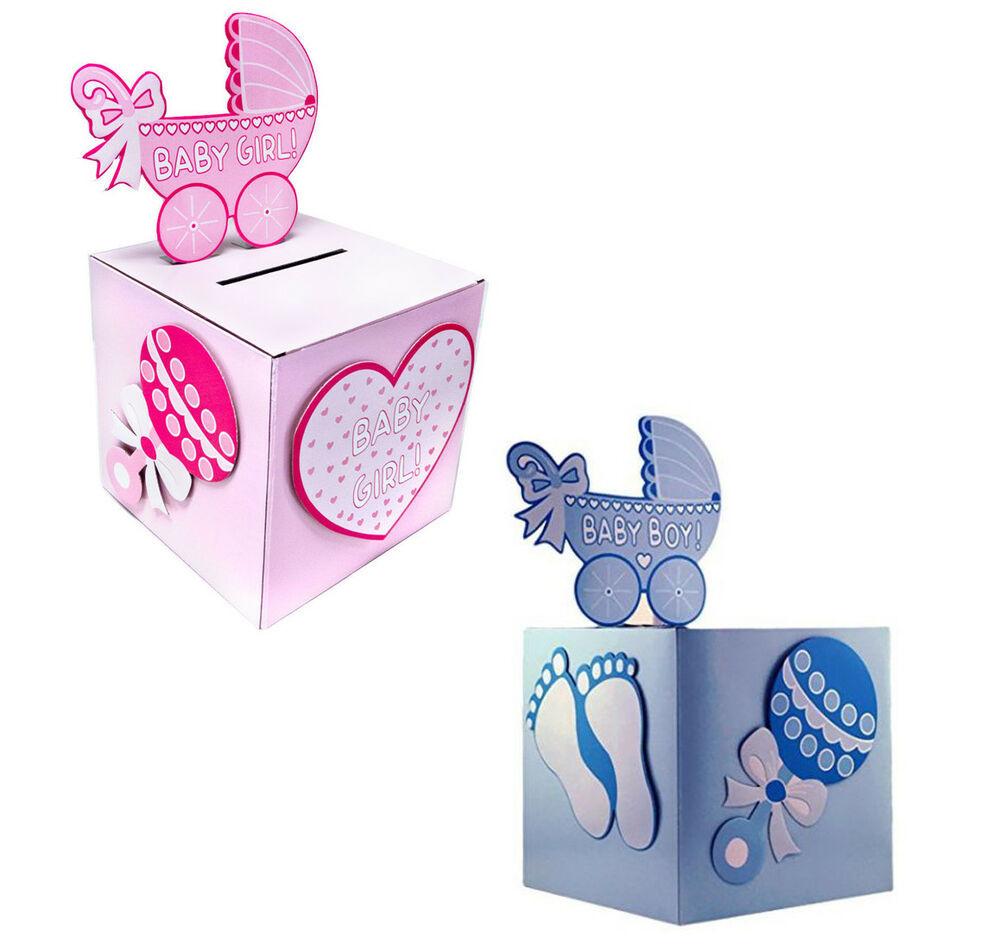 Baby Shower Wishing Well Gift Ideas  BabyShower Wishing well card t or money box BOY GIRL