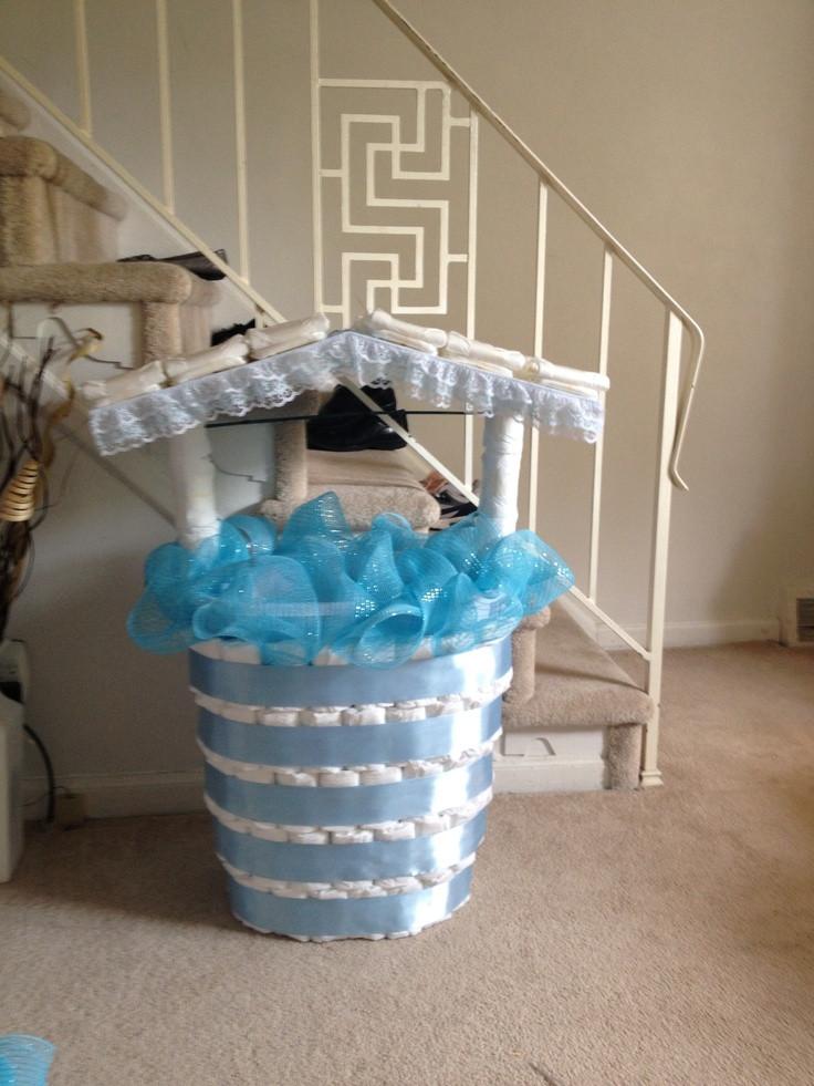 Baby Shower Wishing Well Gift Ideas  Baby shower wishing well Cute ideas