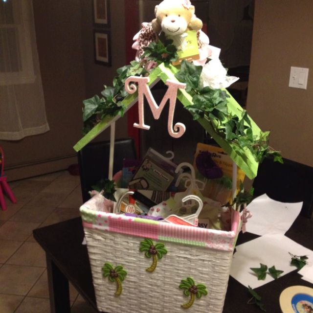 Baby Shower Wishing Well Gift Ideas  Baby shower wishing well structure on this one is nice