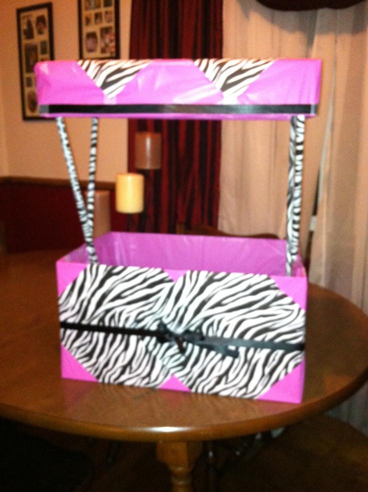 Baby Shower Wishing Well Gift Ideas  Baby shower wishing well zebra themed