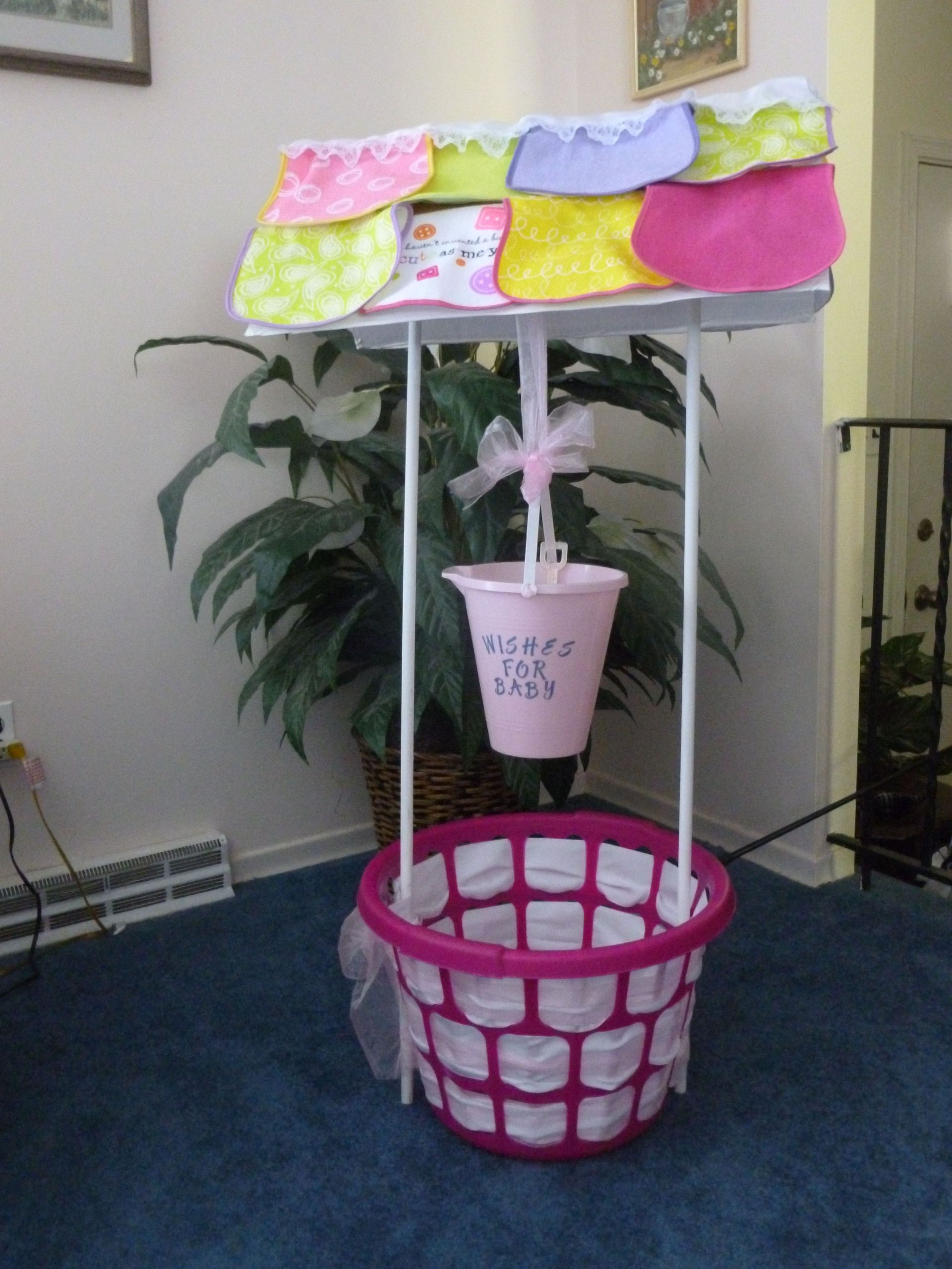 Baby Shower Wishing Well Gift Ideas  I was asked to make a wishing well for a baby shower This