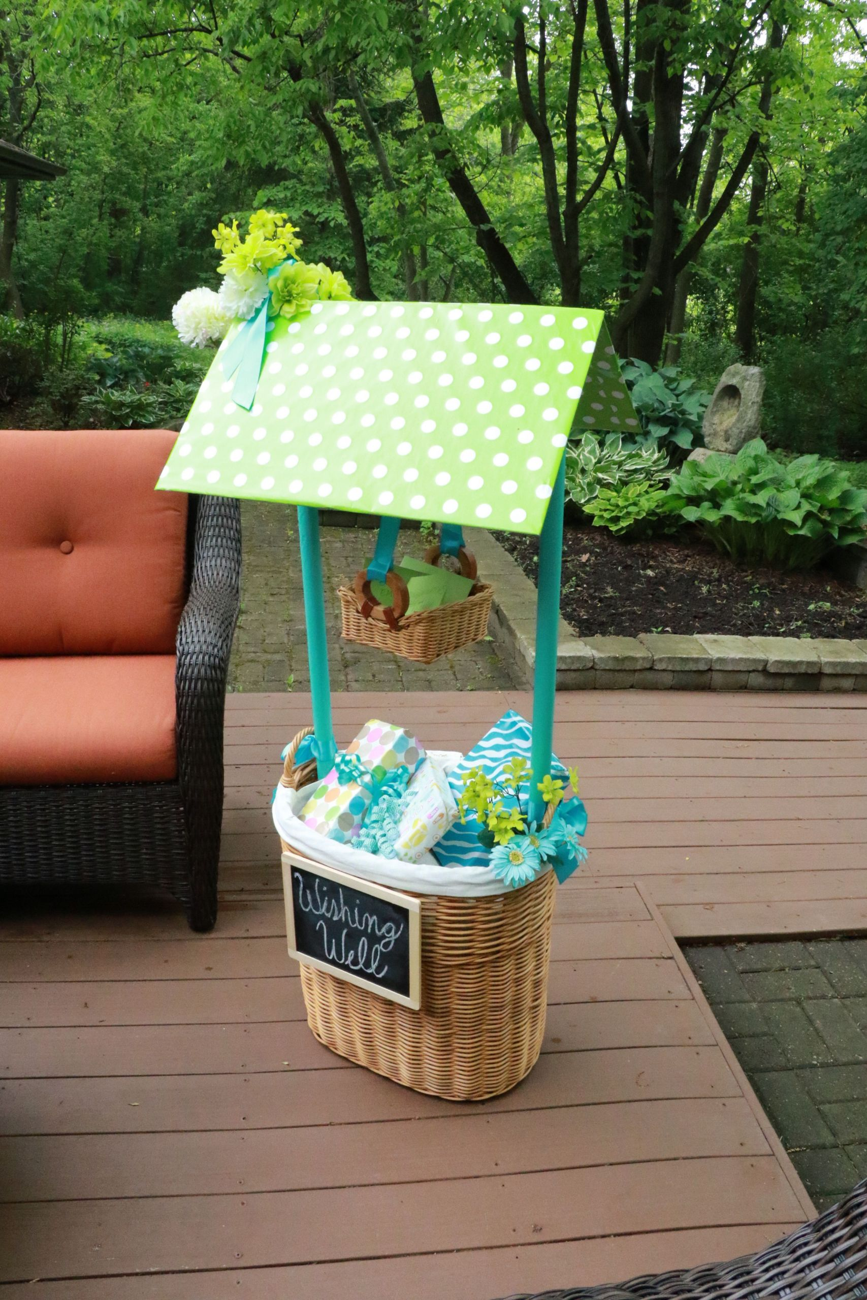 Baby Shower Wishing Well Gift Ideas  How To Make Your Own Beautiful Wishing Well Basket For A