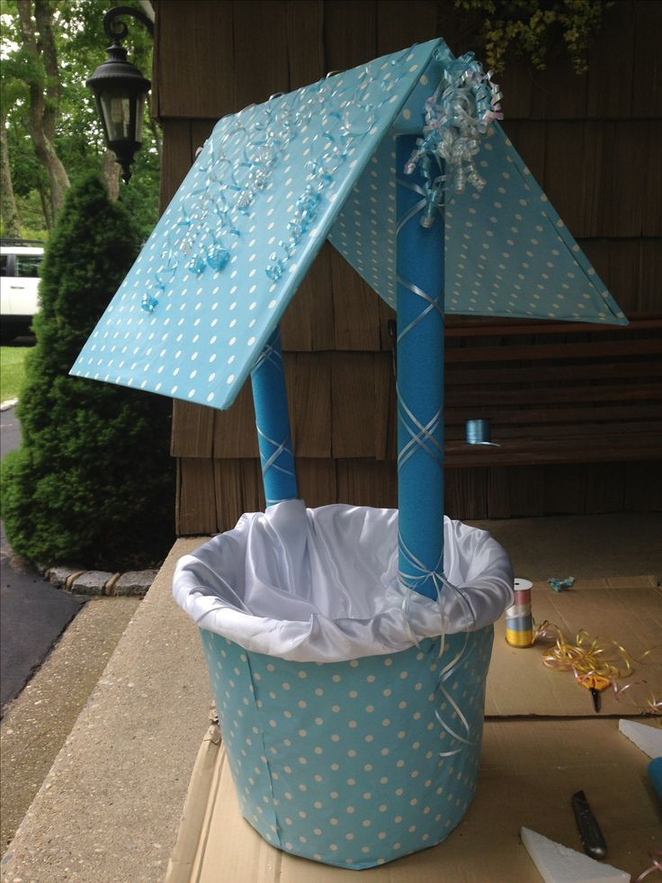 Baby Shower Wishing Well Gift Ideas  Homemade baby shower wishing well Baby ideas