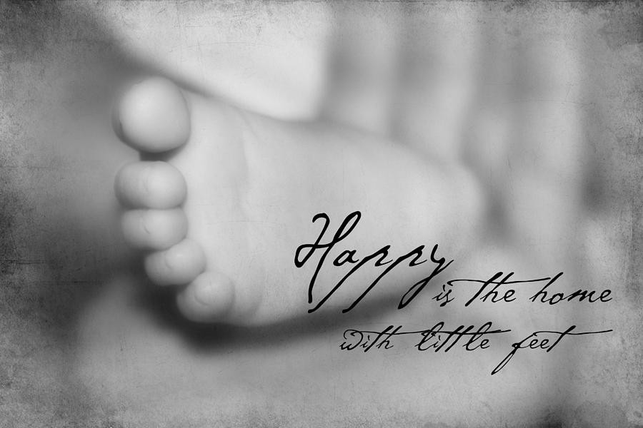Baby Toes Quotes  Baby Foot With Quote graph by Tania L