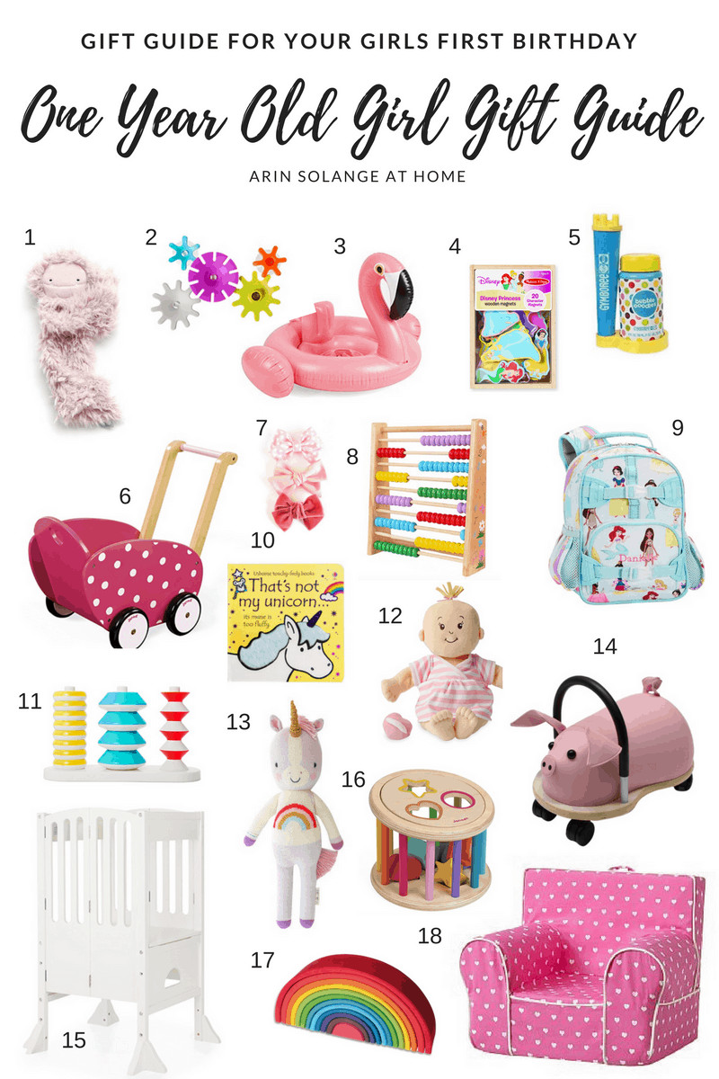 Baby'S First Birthday Gift Ideas  e Year Old Girl Gift Guide arinsolangeathome