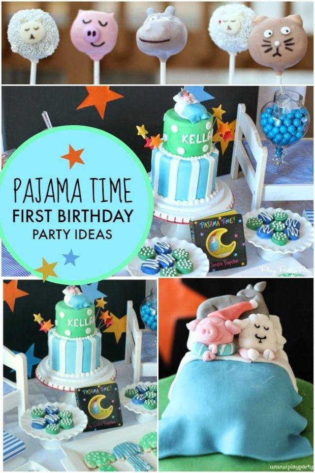 Baby'S First Birthday Gift Ideas  A Pajama Time Boy s 1st Birthday Party