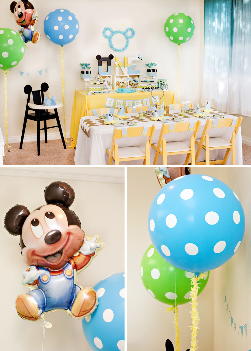 Baby'S First Birthday Gift Ideas  Creative Mickey Mouse 1st Birthday Party Ideas Free