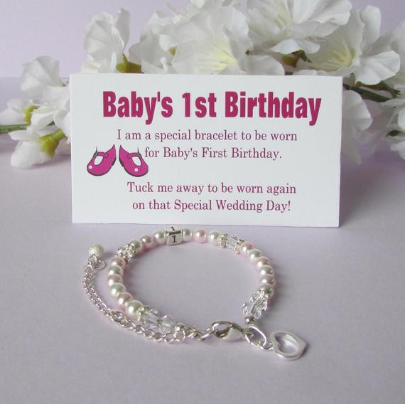 Babys First Birthday Gift Ideas  Baby s 1st Birthday Gift Bracelet Baby to Bride Growing