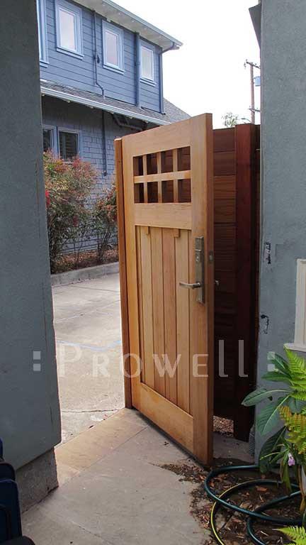 Backyard Fence Door  Craftsman Wood Garden Gate 4