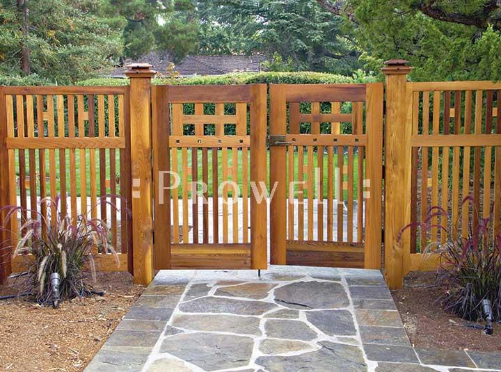 Backyard Fence Door  Arts and Crafts Wooden Garden Gate 52