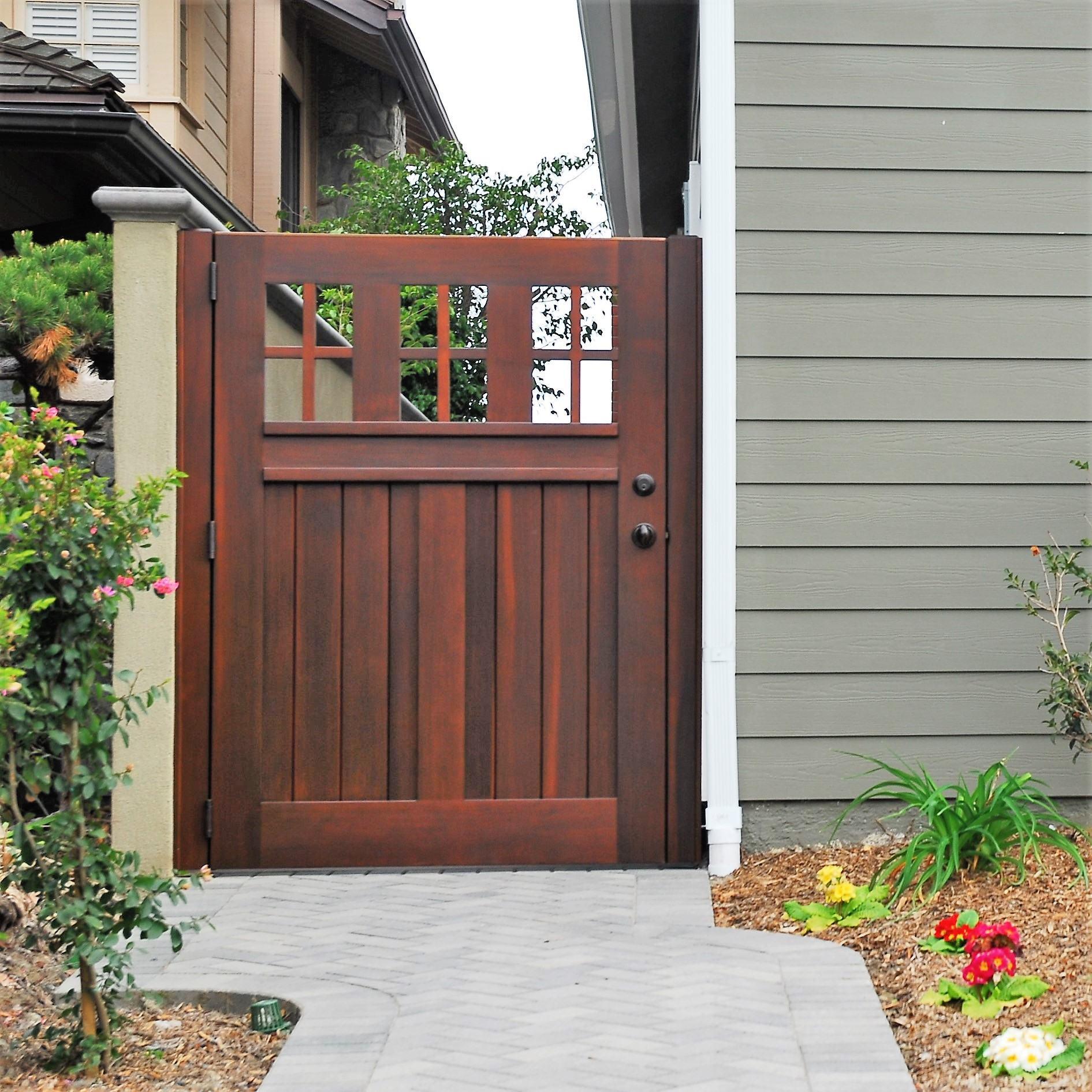 Backyard Fence Door  Premium Wood Gates Garden Passages