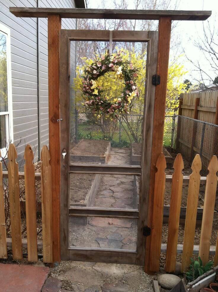 Backyard Fence Door  18 DIY Garden Fence Ideas to Keep Your Plants