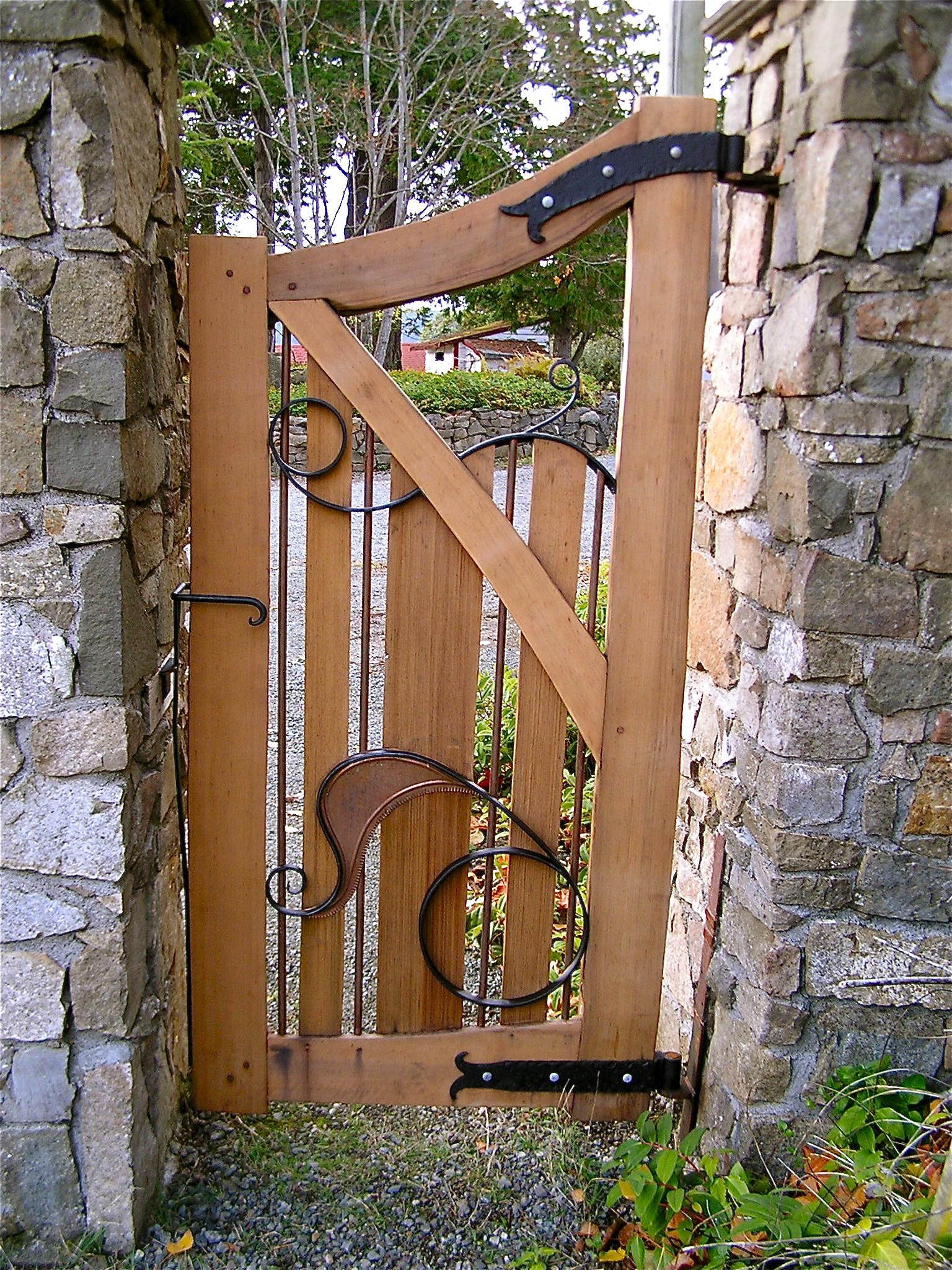 Backyard Fence Door  Garden Gates Cedar Sustainable Woodwork