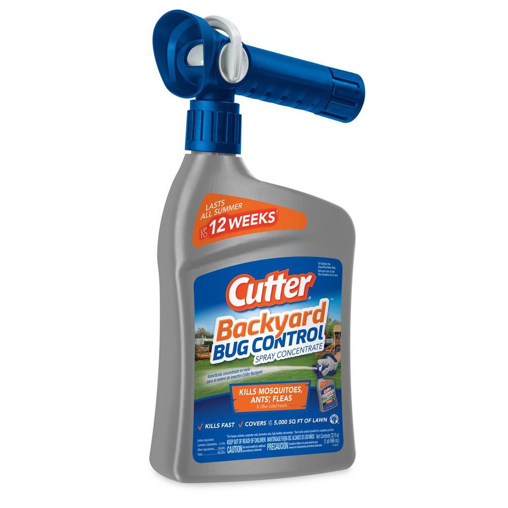 Backyard Fly Repellent  Cutter 32 fl oz Concentrate Backyard Bug Control Spray