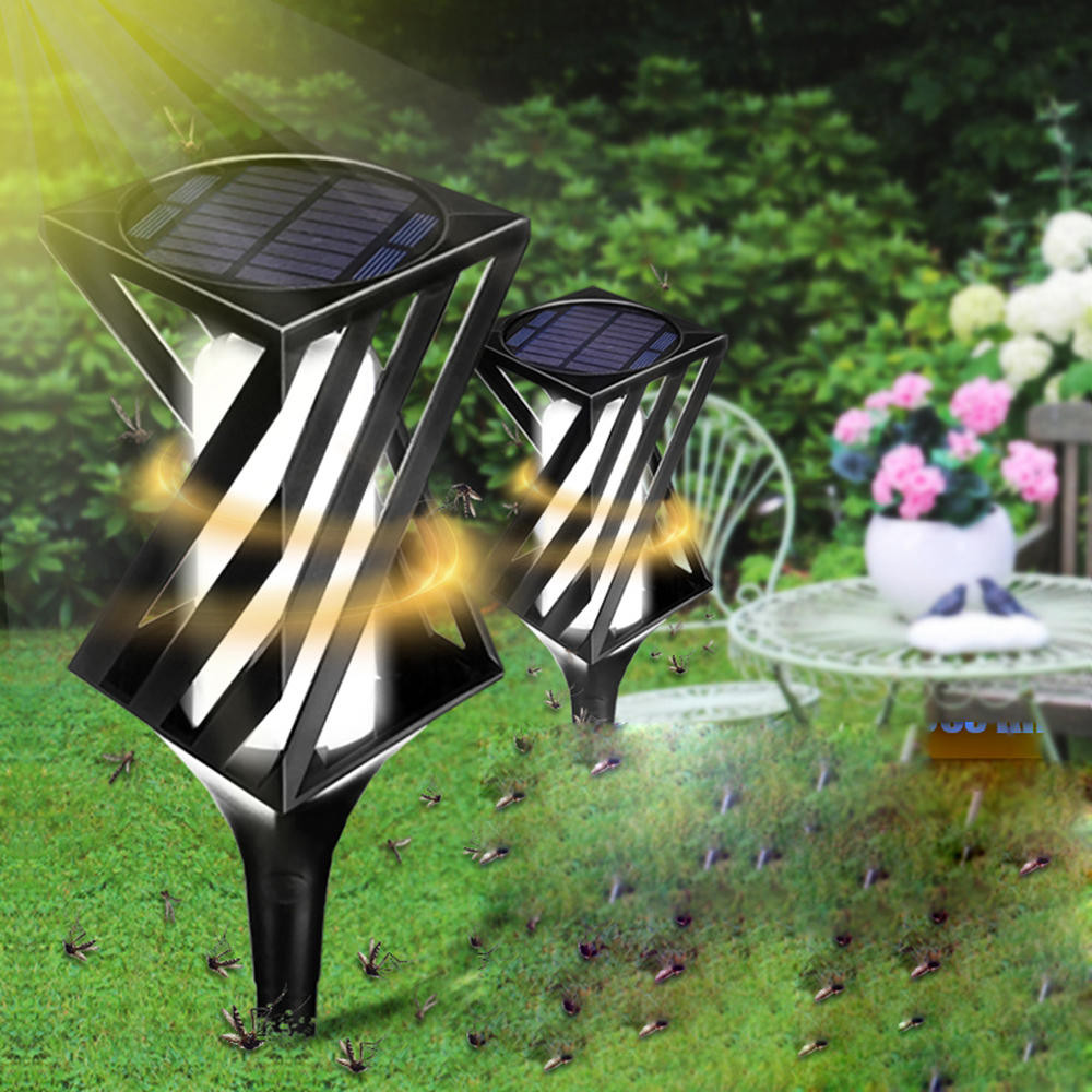 Backyard Fly Repellent  2pcs solar powered led light mosquito killer insect
