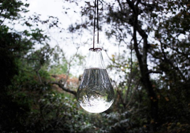 Backyard Fly Repellent  Outdoor Hanging Glass Sculpture Functions As a Sustainable