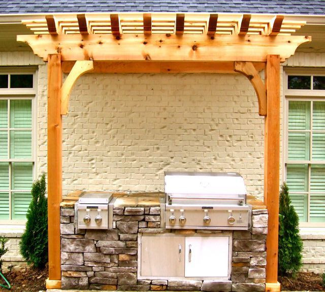 Backyard Grilling Areas  13 best images about Grill Area Pergola on Pinterest