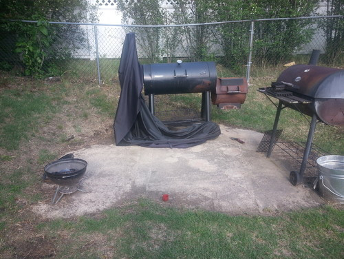 Backyard Grilling Areas  Help with Backyard Grill area Need to make this look better