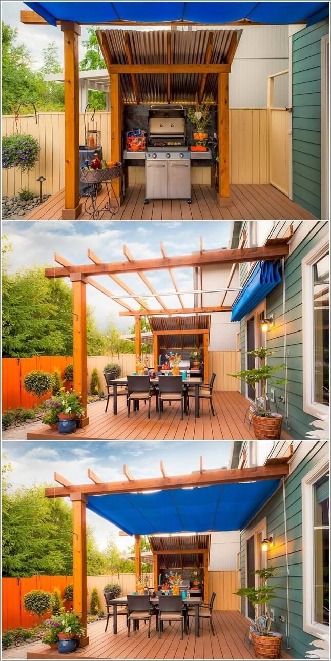Backyard Grilling Areas  310 best images about Outdoor Kitchen BBQ area on
