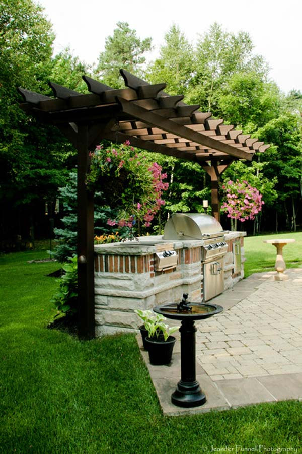 Backyard Grilling Areas  Adding a Barbecue Grill Area To Summer Yard or Patio